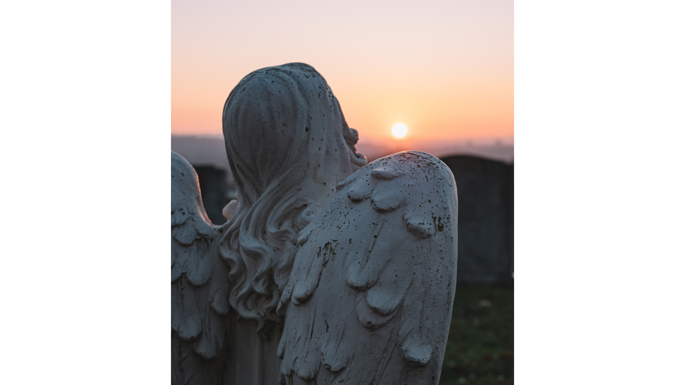 Hope in ugly places - a stone angel