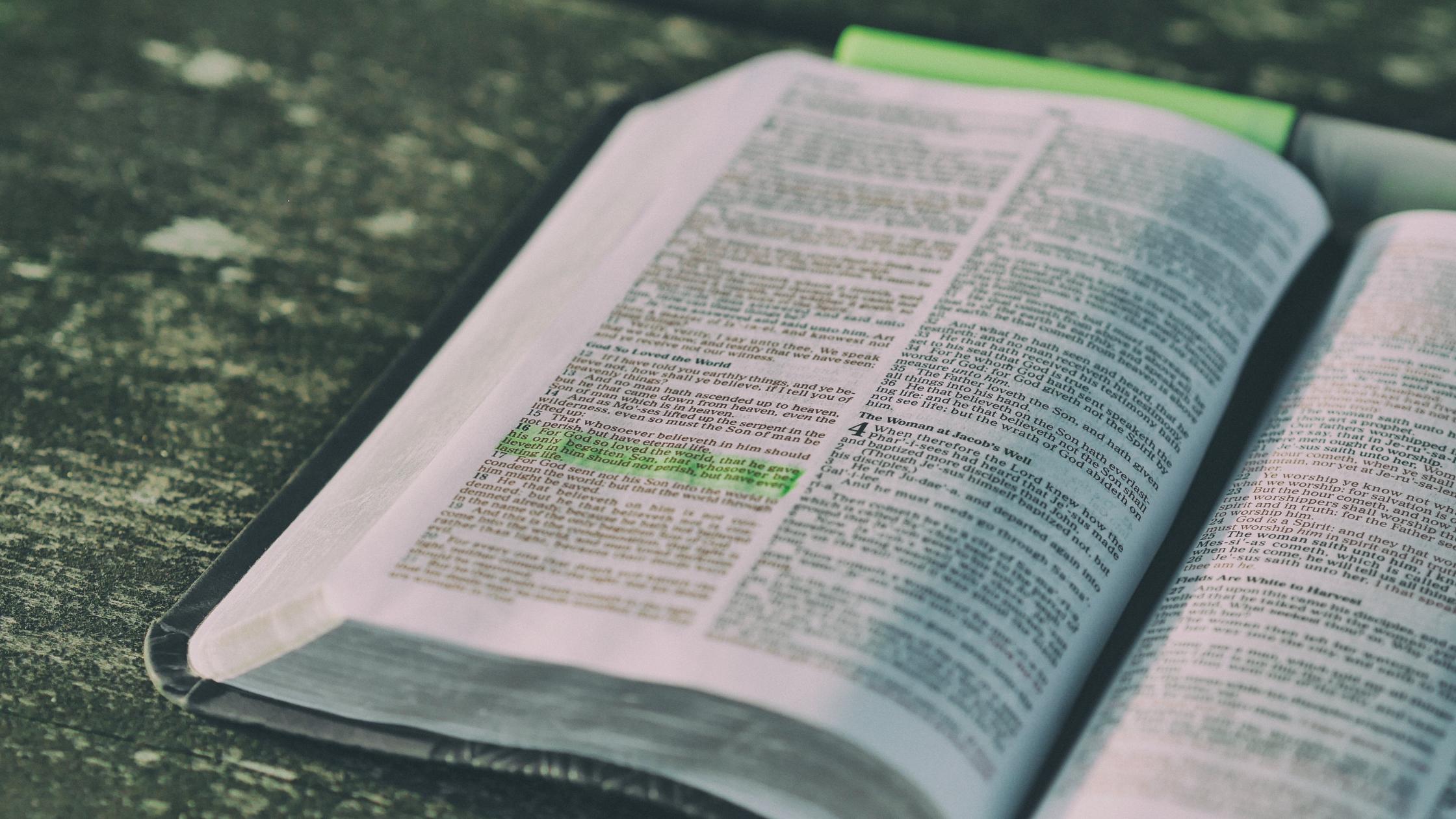 Scripture engagement - Bible open