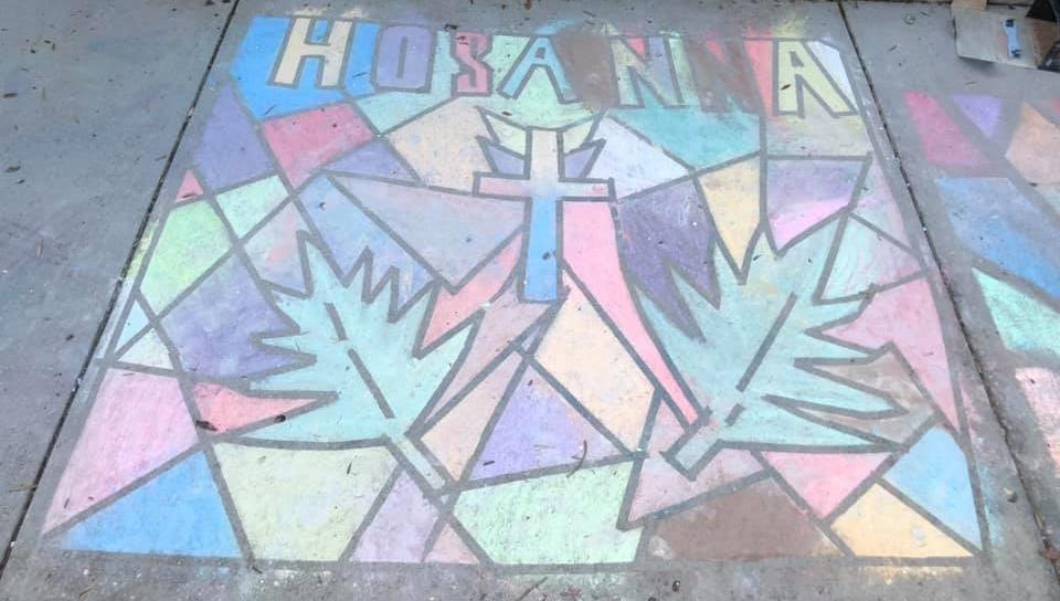 Hosanna Chalk Drawing