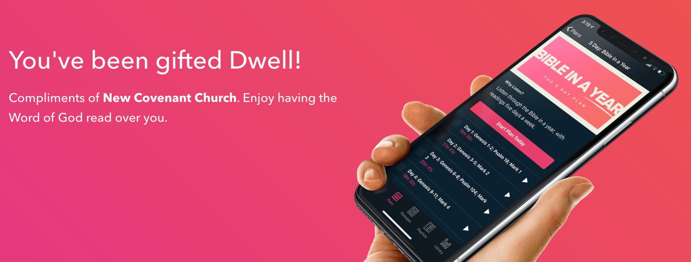 Dwell subscription page