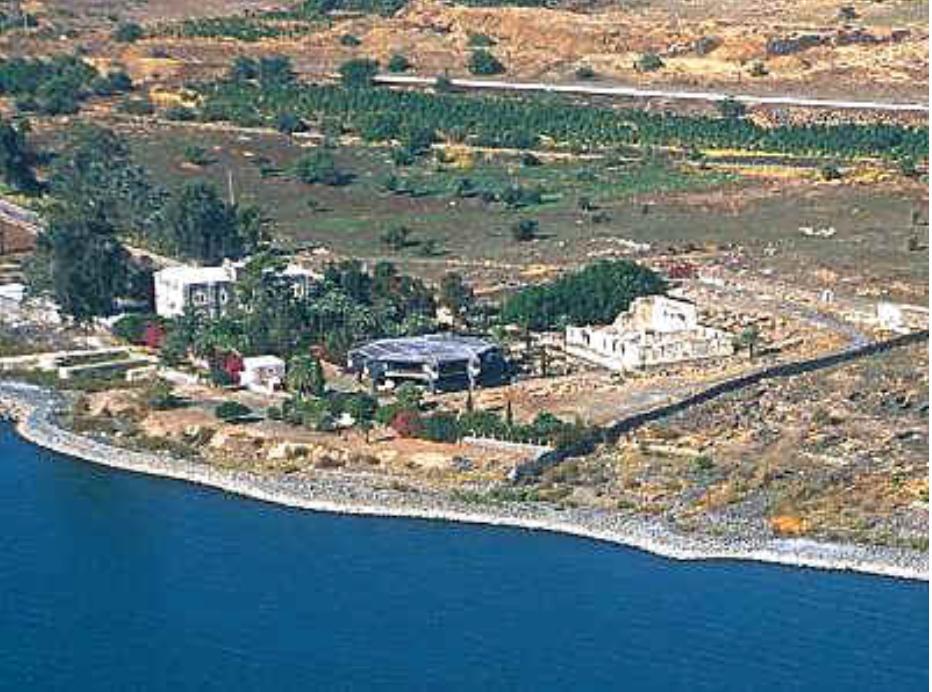 Bird's eye view of Capernaum