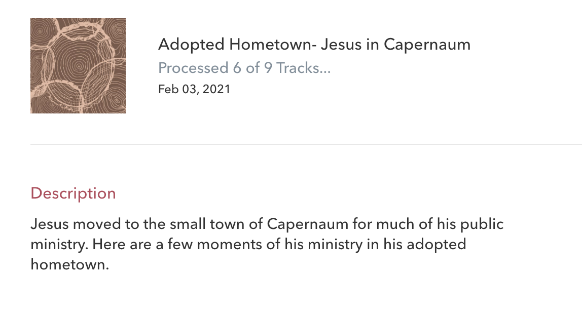 Adopted Town: Jesus in Capernaum