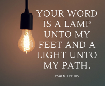 your word is a lamp unto my feet and a light unto my path--1-1