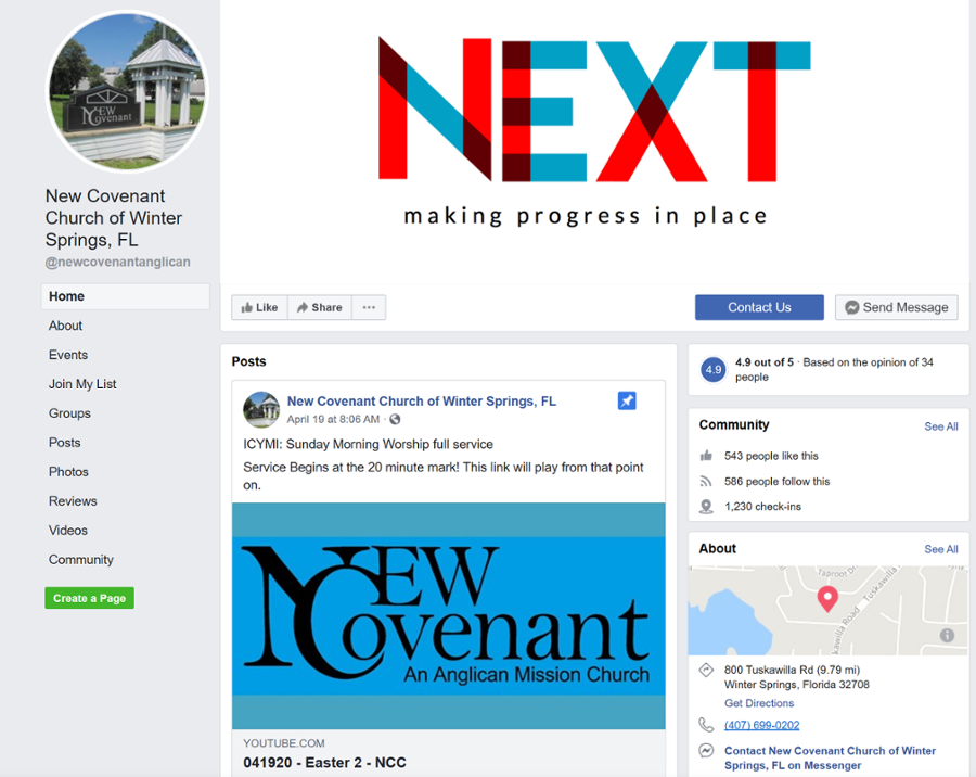 New Covenant Church Facebook